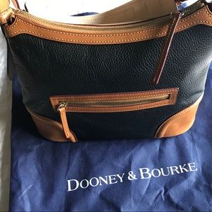 Dooney & Bourke dark navy pebble leather hobo